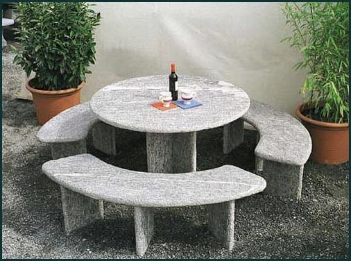 Granittisch Für Den Garten Natursteintisch