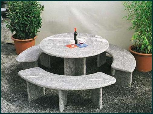 rustico gartentische granittisch. Black Bedroom Furniture Sets. Home Design Ideas